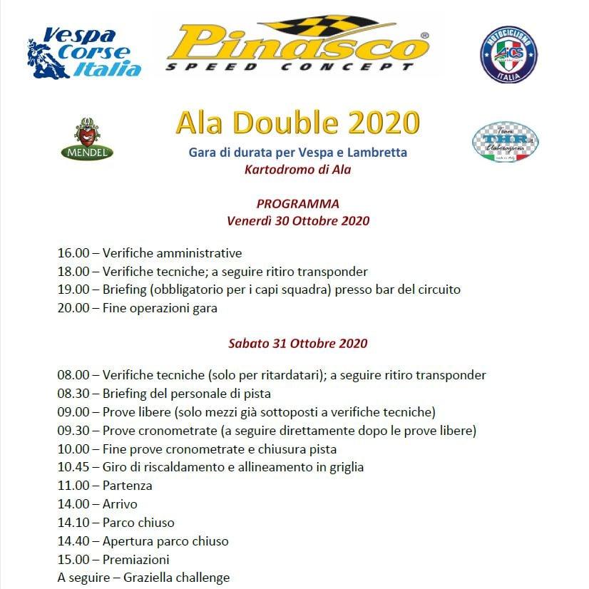 Programma Ufficiale Ala Double 2020!