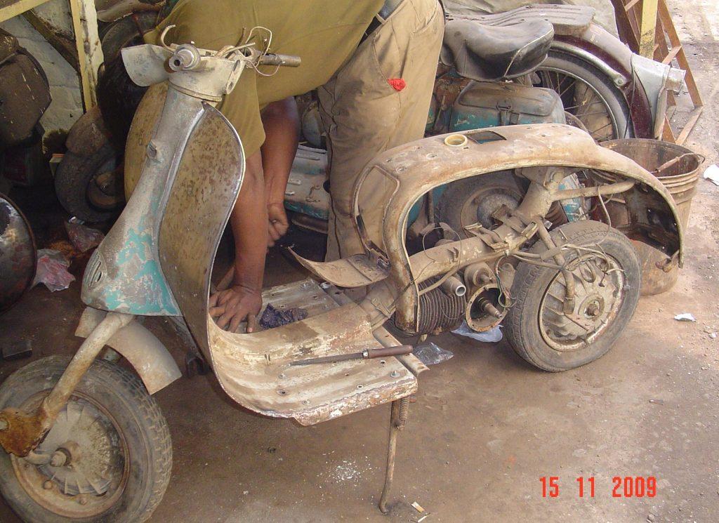 restauro scooter d epoca